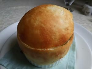 名物つぼ焼きのクリームスープ